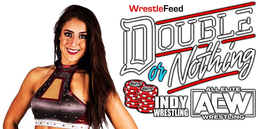Britt Baker Wins At AEW Double Or Nothing 2021 WrestleFeed App