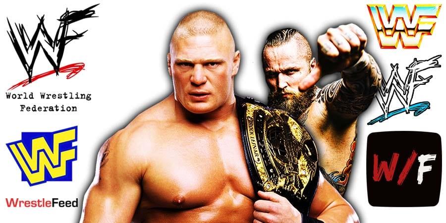 Brock Lesnar Aleister Black WrestleFeed App