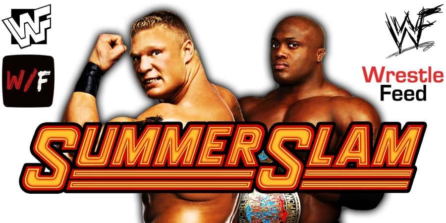 Brock Lesnar vs Bobby Lashley SummerSlam 2021 WrestleFeed App