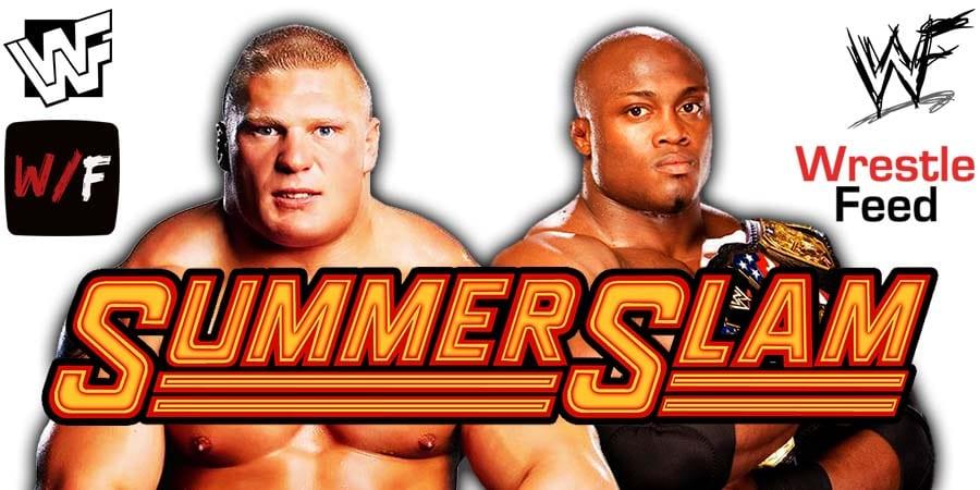 Brock Lesnar vs Bobby Lashley WWE SummerSlam 2021 PPV WrestleFeed App