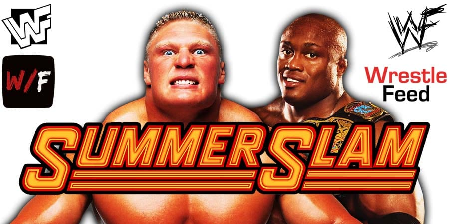 Brock Lesnar vs Bobby Lashley WWE SummerSlam 2021 WrestleFeed App