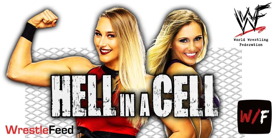 Charlotte Flair defeats Rhea Ripley via DQ at Hell In A Cell 2021 WrestleFeed App