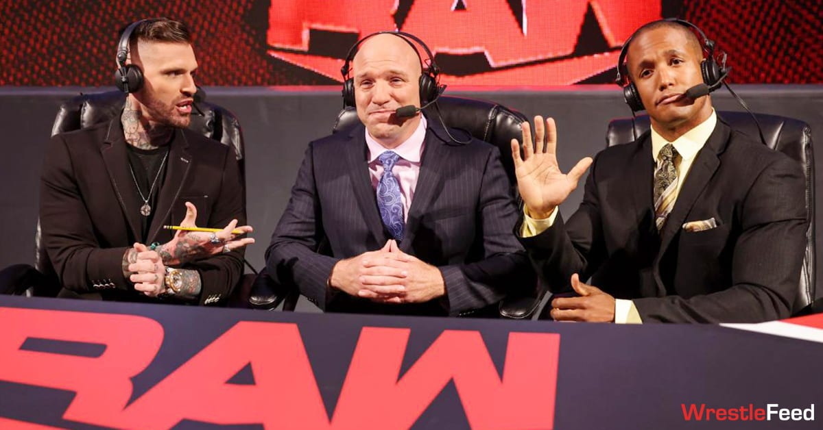 Corey Graves Jimmy Smith Byron Saxton WWE RAW Commentary Announce Team WrestleFeed App