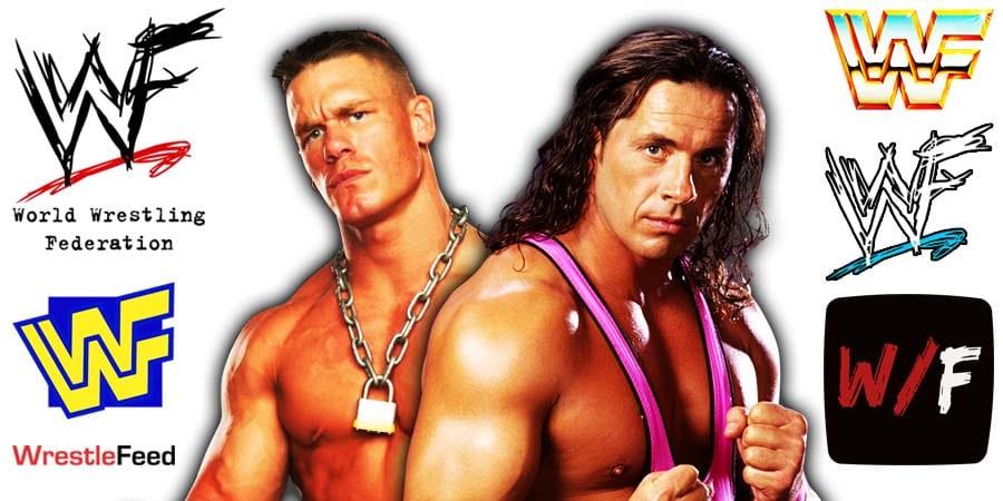 John Cena Bret Hart WrestleFeed App