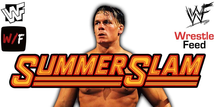John Cena WWE SummerSlam 2021 WrestleFeed App