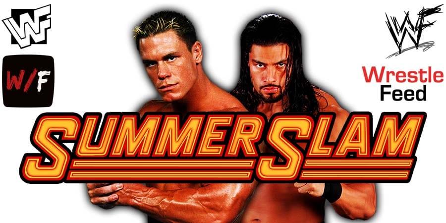 John Cena vs Roman Reigns SummerSlam 2021 Match WrestleFeed App