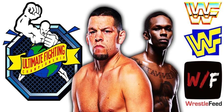 Nate Diaz Israel Adesanya UFC 263 WrestleFeed App