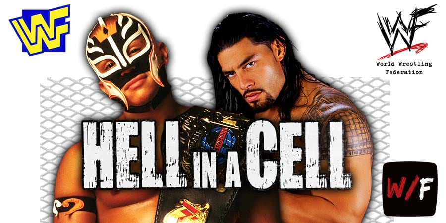 Rey Mysterio vs Roman Reigns Hell in a Cell match WrestleFeed App
