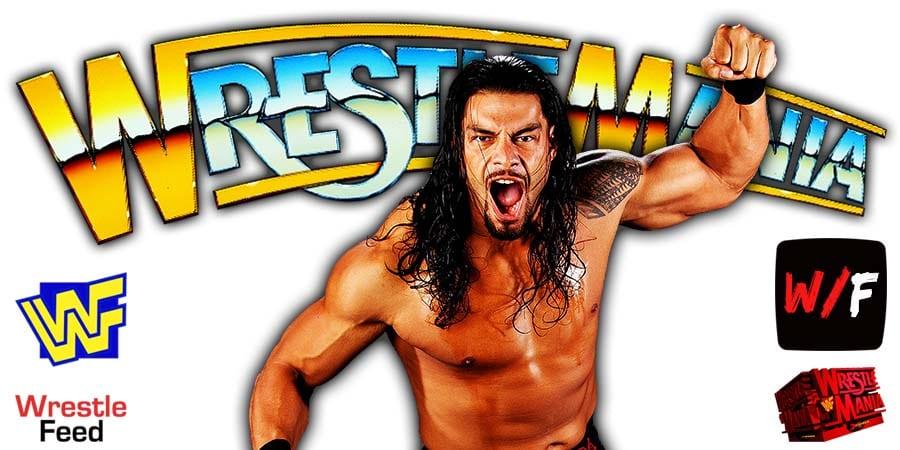 Roman Reigns WrestleMania 38 WrestleFeed App