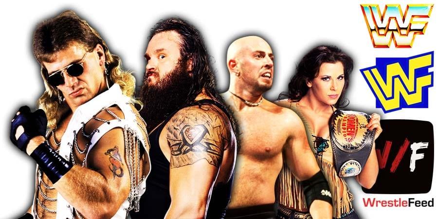 Shawn Michaels Braun Strowman Justin Credible Mickie James WrestleFeed App