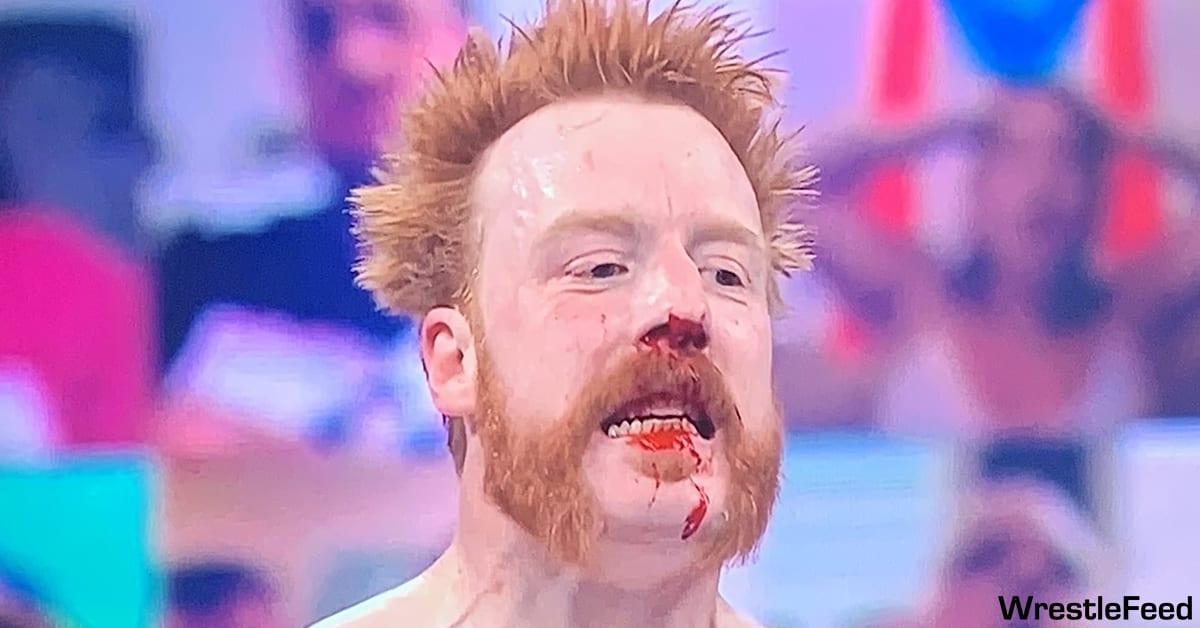 Sheamus Nose Broken Bleeding WWE RAW WrestleFeed App