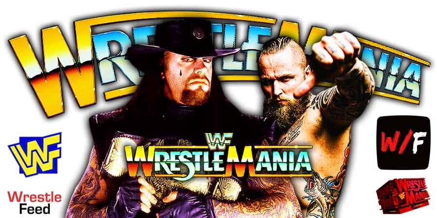The Undertaker Aleister Black WrestleMania 36 WrestleFeed App