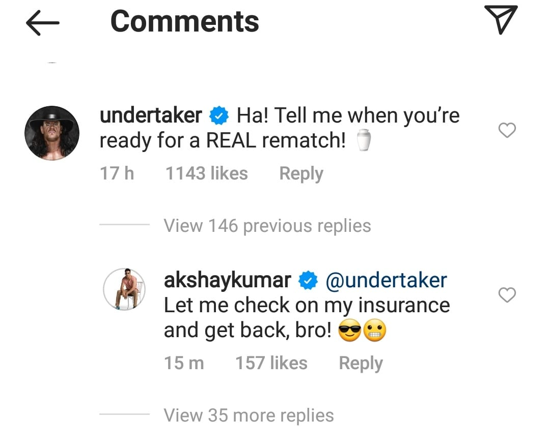 The Undertaker Challenges Akshay Kumar To A Real Rematch