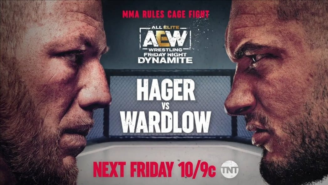 Wardlow vs Jake Hager MMA Rules Cage Fight Graphic AEW Dynamite