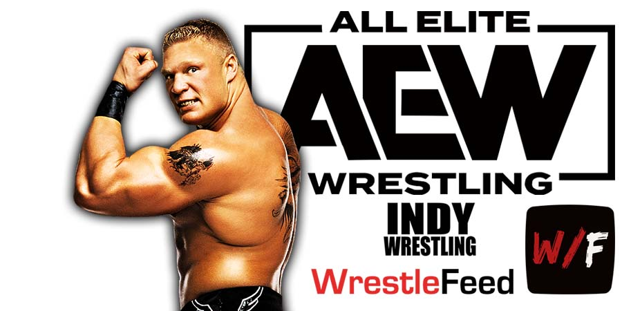 Brock Lesnar AEW All Elite Wrestling Article Pic 5 WrestleFeed App