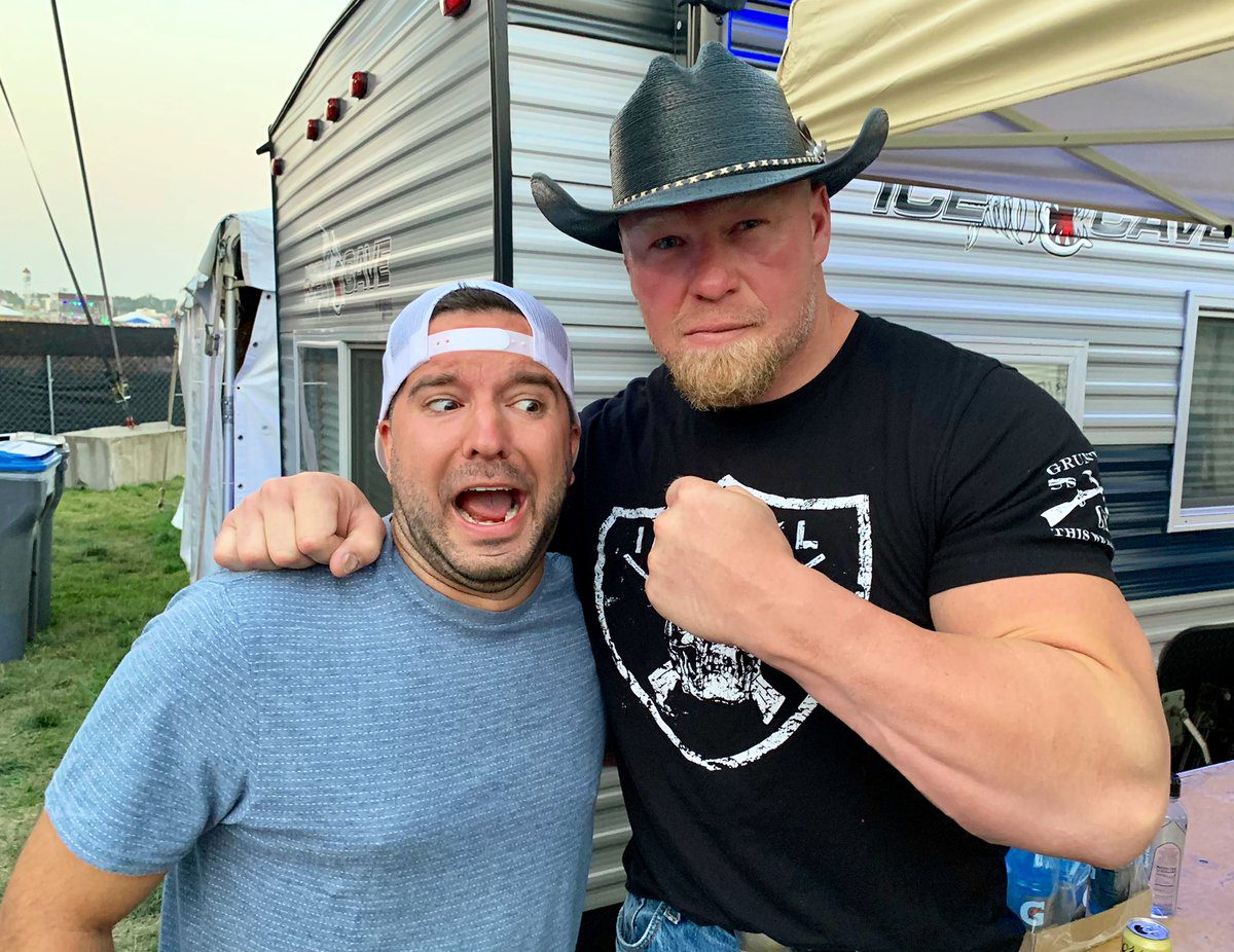 Brock Lesnar In A Cowboy Hat At A Music Festival July 2021