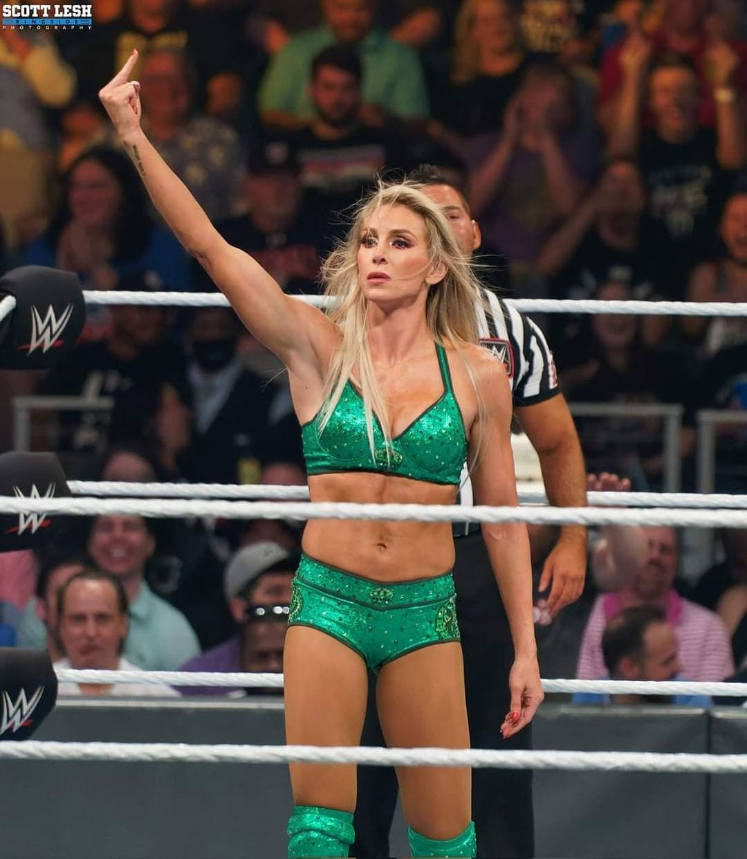 Charlotte Flair Middle Finger WWE Money In The Bank 2021