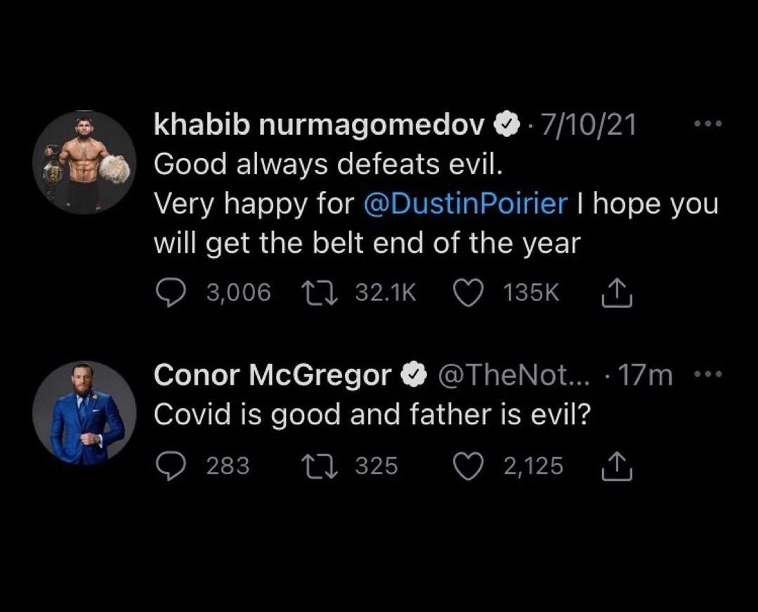 Conor McGregor Makes A Disrespectful Comment Towards Khabib Nurmagomedov's Late Father