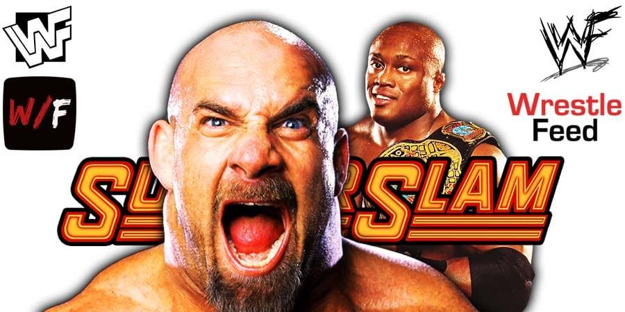 Goldberg vs Bobby Lashley WWE Championship Match SummerSlam 2021 PPV WrestleFeed App