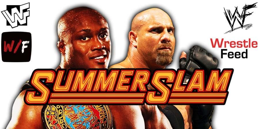 Goldberg vs Bobby Lashley WWE Championship SummerSlam 2021 PPV WrestleFeed App