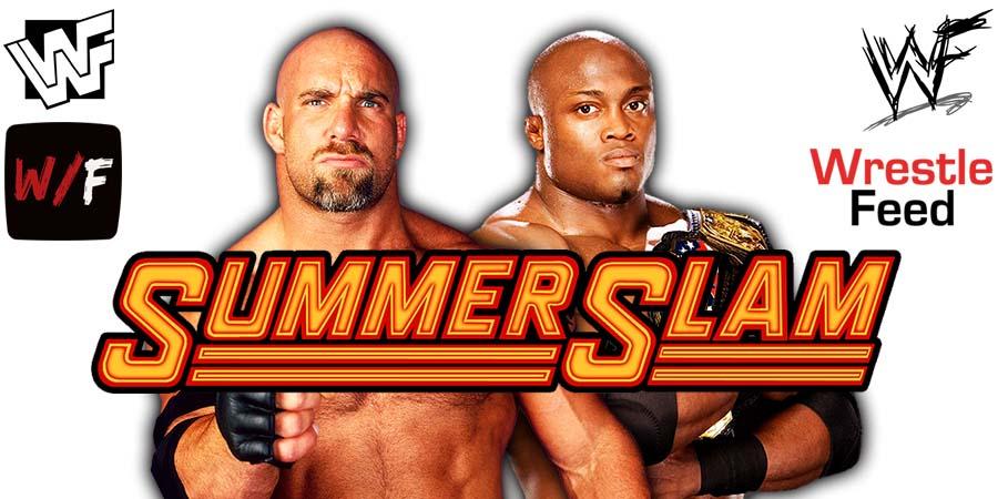 Goldberg vs Bobby Lashley WWE Championship Title Match SummerSlam 2021 PPV WrestleFeed App