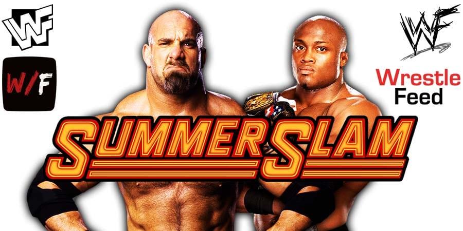 Goldberg vs Bobby Lashley WWE SummerSlam 2021 PPV WrestleFeed App