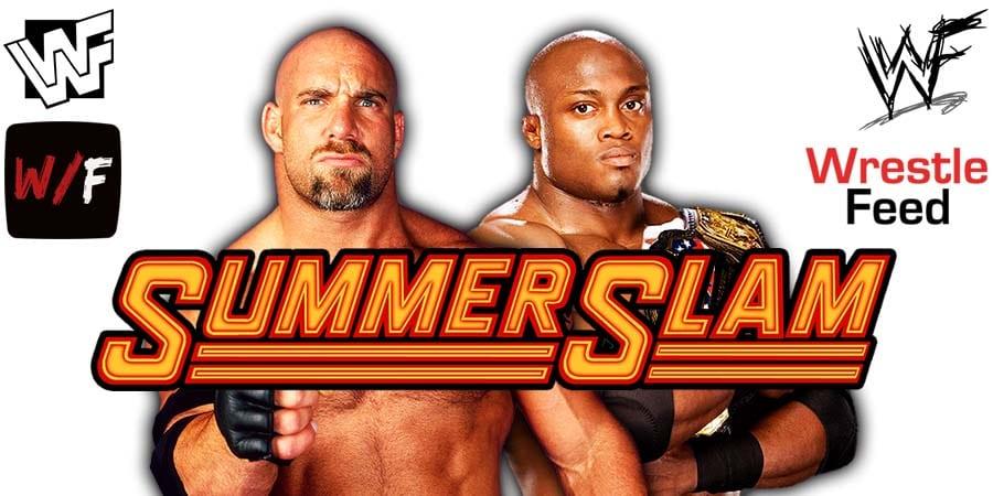 Goldberg vs Bobby Lashley WWE SummerSlam 2021 WrestleFeed App