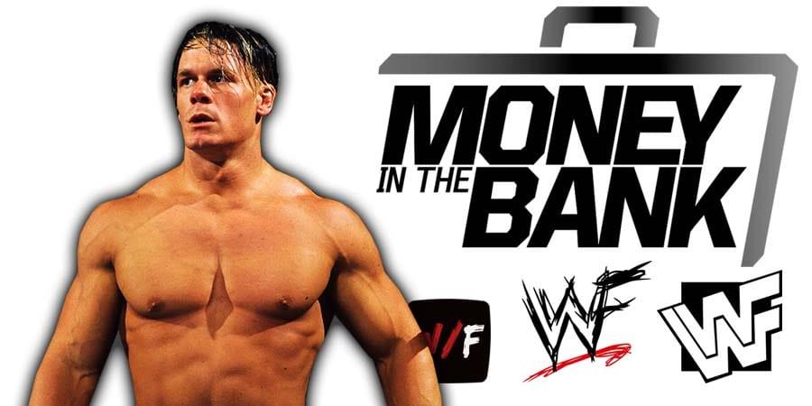 John Cena WWE Comeback Money In The Bank 2021 WrestleFeed App