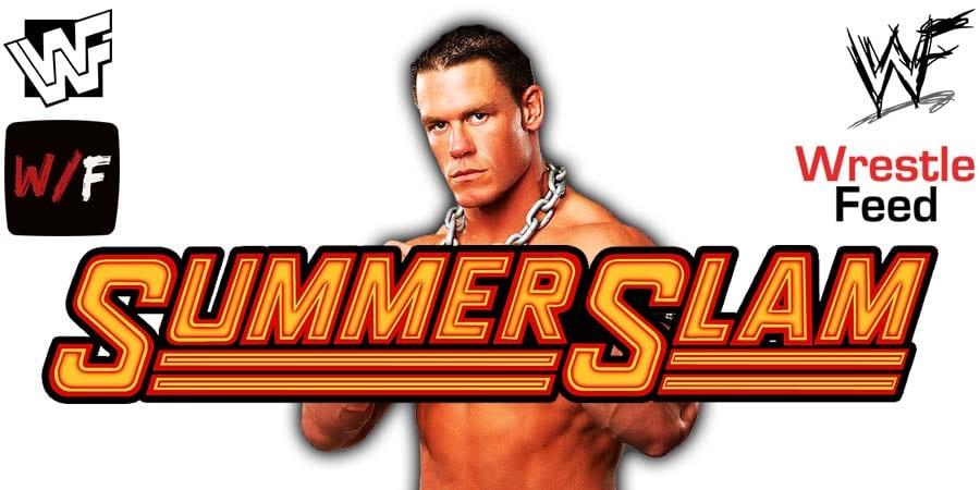 John Cena WWE SummerSlam 2021 PPV WrestleFeed App