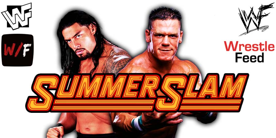 John Cena vs Roman Reigns WWE SummerSlam 2021 PPV Match WrestleFeed App
