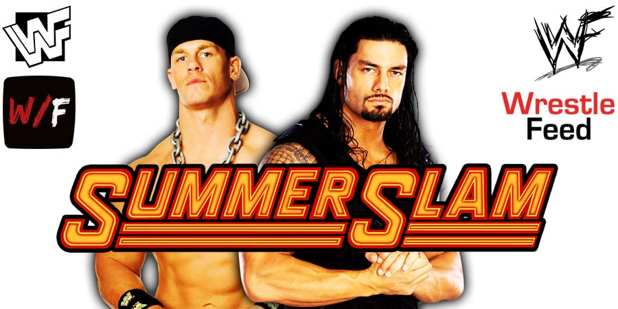 John Cena vs Roman Reigns WWE SummerSlam PPV 2021 Match WrestleFeed App