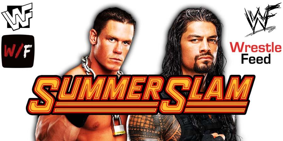 John Cena vs Roman Reigns WWE SummerSlam PPV 2021 Title Match WrestleFeed App