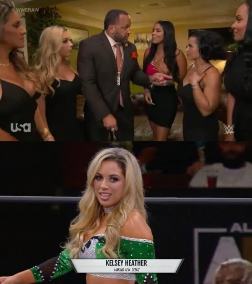 Kelsey Heather appeared on WWE RAW and AEW Dark Elevation on the same night