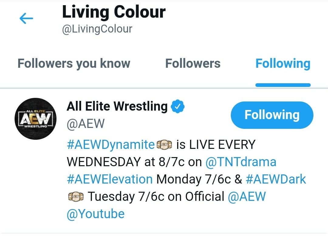 Living Colour CM Punk Theme Song Cult Of Personality Following AEW On Twitter