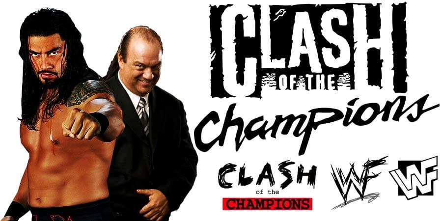 Roman Reigns Paul Heyman Clash Of Champions 2021