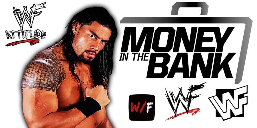 Roman Reigns WWE Money In The Bank 2021 WrestleFeed App
