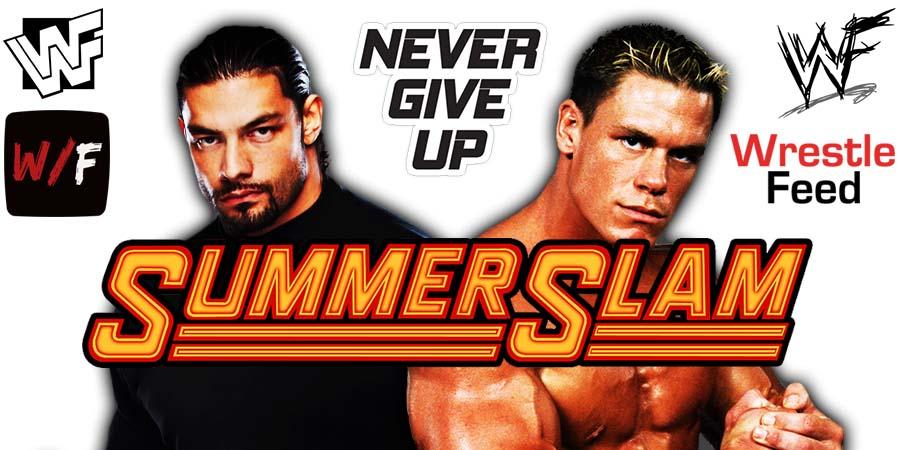 Roman Reigns vs John Cena SummerSlam 2021 WrestleFeed App
