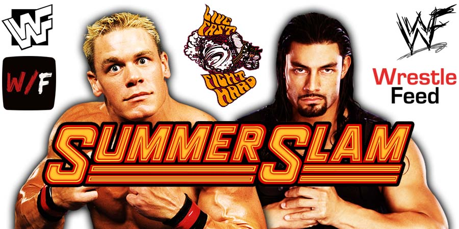 Roman Reigns vs John Cena WWE SummerSlam 2021 WrestleFeed App