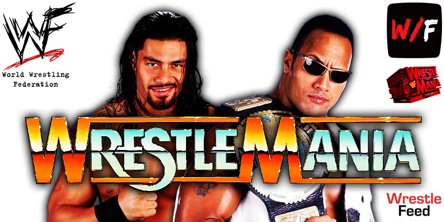 Roman Reigns vs The Rock WrestleMania 38 WrestleFeed App