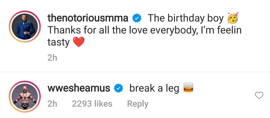 Sheamus Takes A Shot At Conor McGregor On His Birthday