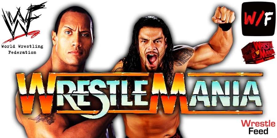 The Rock vs Roman Reigns WrestleMania 38 WrestleFeed App