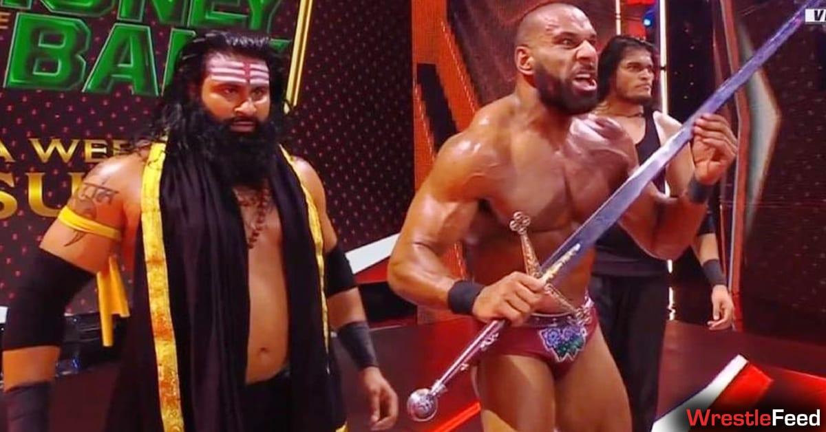 Veer Shanky Jinder Mahal with Drew McIntyre's Sword WWE RAW July 2021 WrestleFeed App
