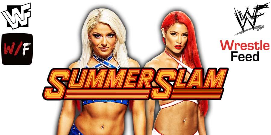 Alexa Bliss Eva Marie SummerSlam 2021 WrestleFeed App