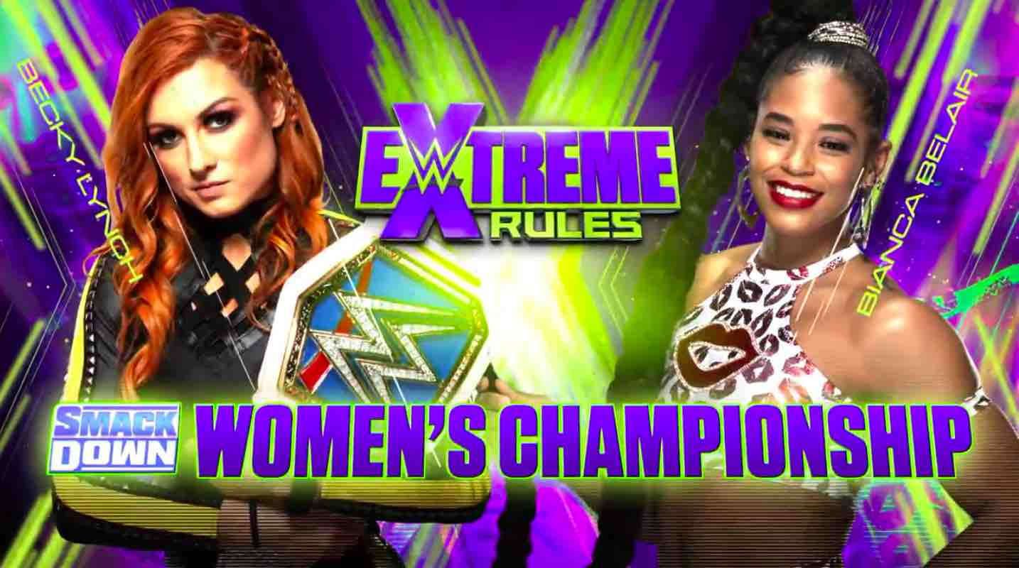 Becky Lynch vs Bianca Belair WWE Extreme Rules 2021 Graphic