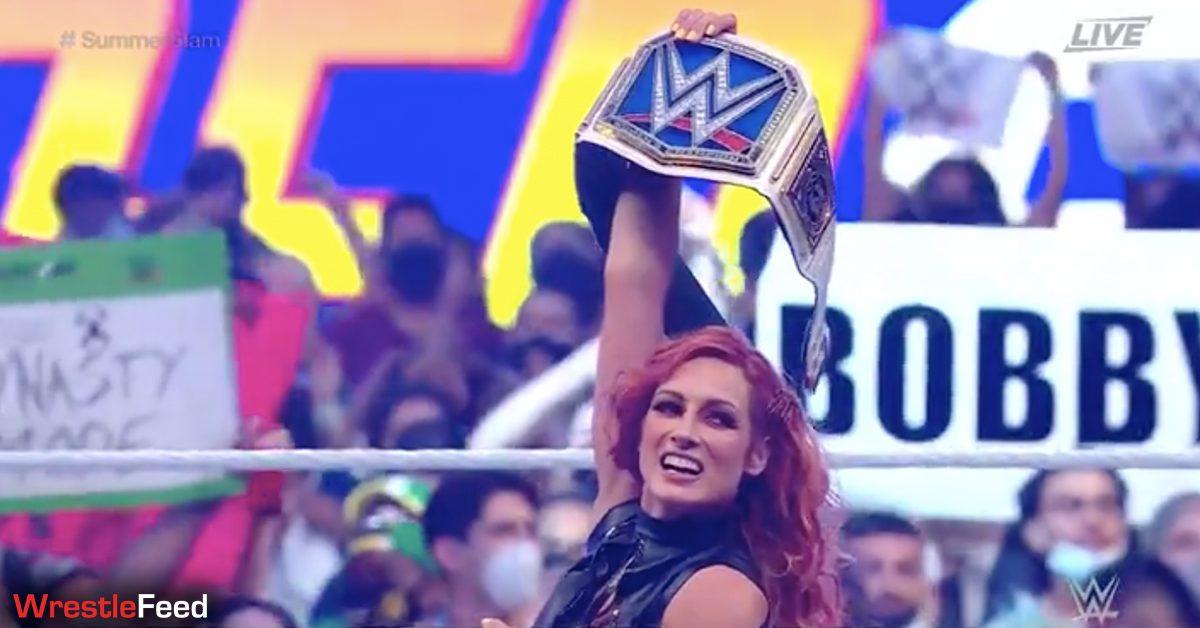 Becky Lynch wins SmackDown Women's Championship at SummerSlam 2021 WrestleFeed App