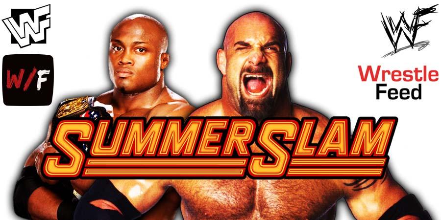 Bobby Lashley vs Goldberg WWE SummerSlam 2021 PPV WrestleFeed App