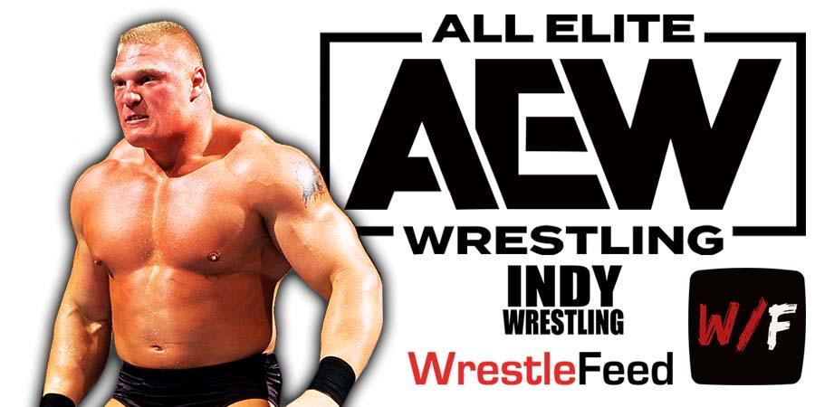Brock Lesnar AEW All Elite Wrestling Article Pic 6 WrestleFeed App