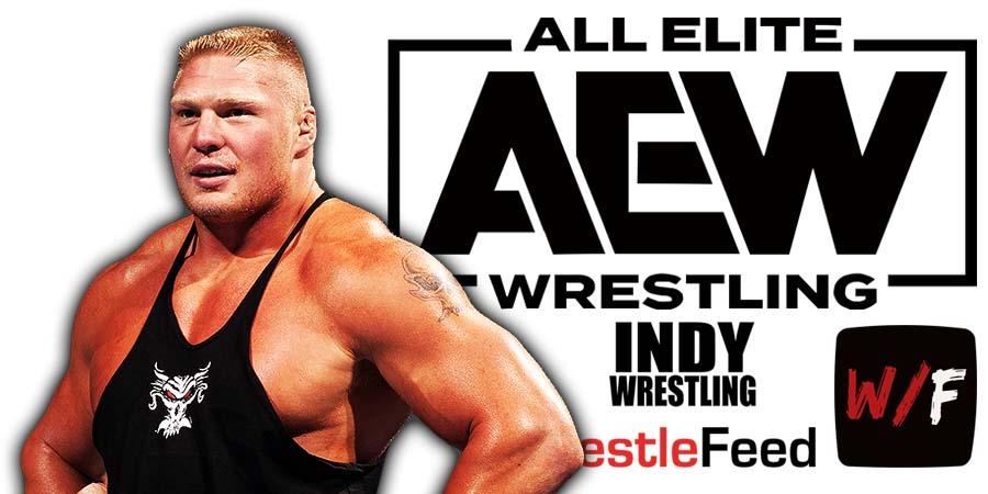 Brock Lesnar AEW All Elite Wrestling Article Pic 7 WrestleFeed App