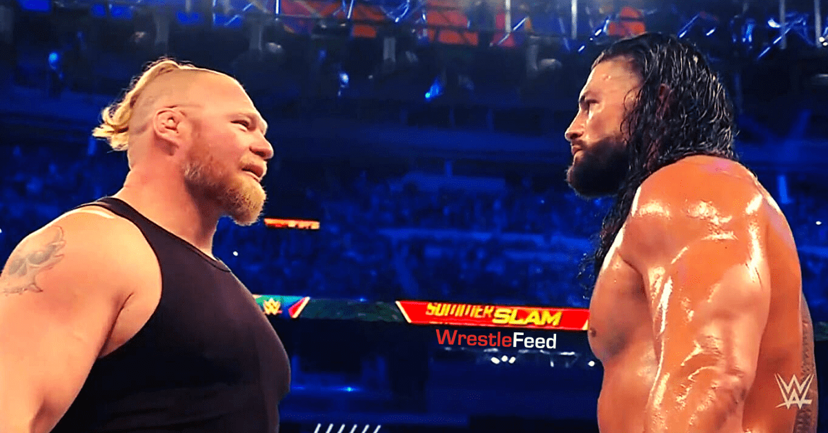 Brock Lesnar New Look Hairstyle Beard Roman Reigns Face To Face WWE SummerSlam 2021 WrestleFeed App