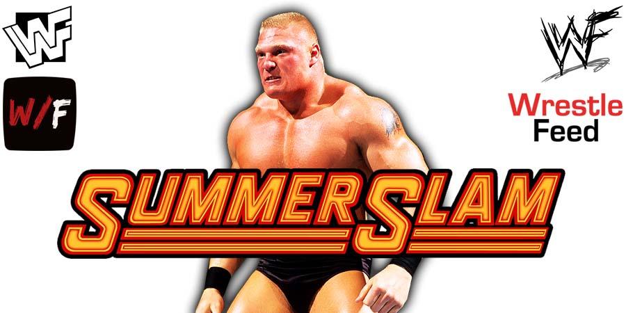 Brock Lesnar WWE SummerSlam 2021 WrestleFeed App